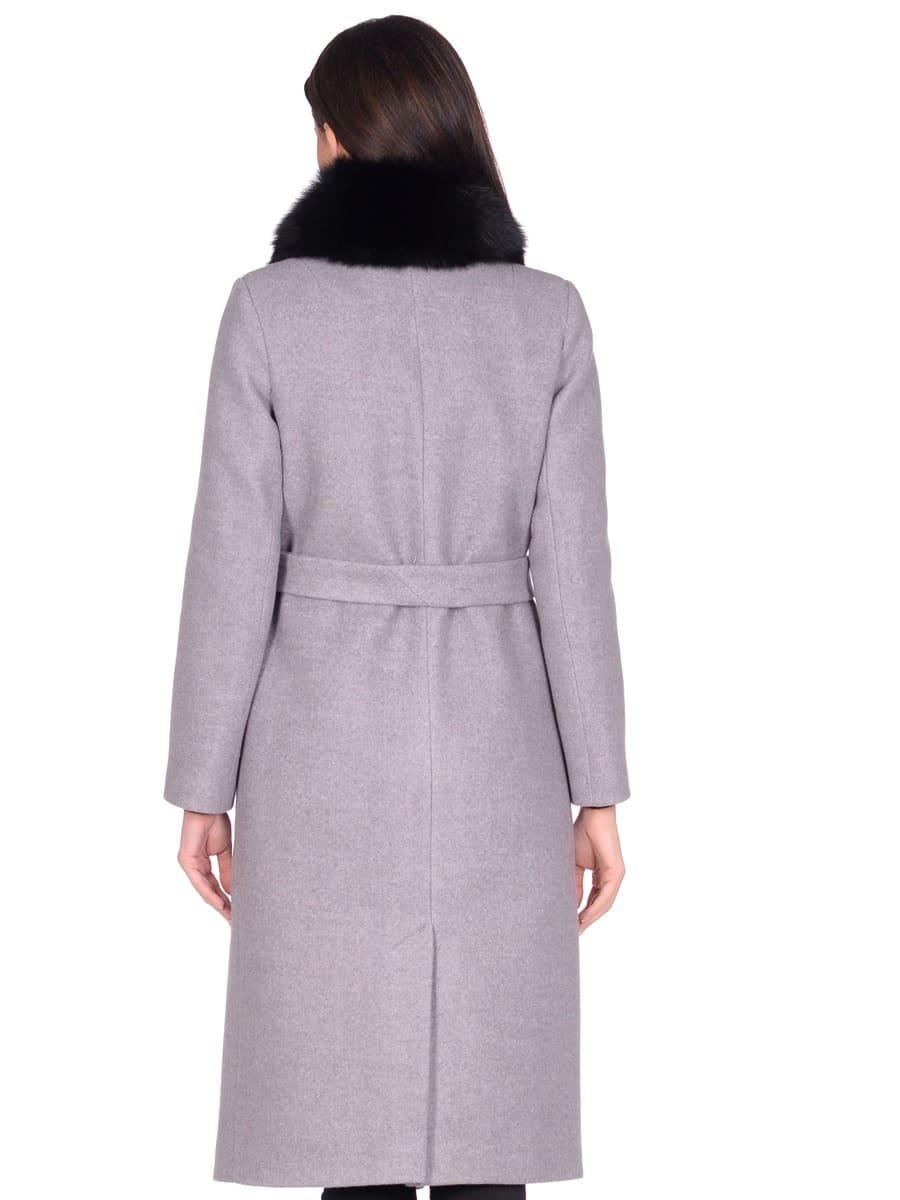 Женское зимнее пальто hr-014a серое фото-3