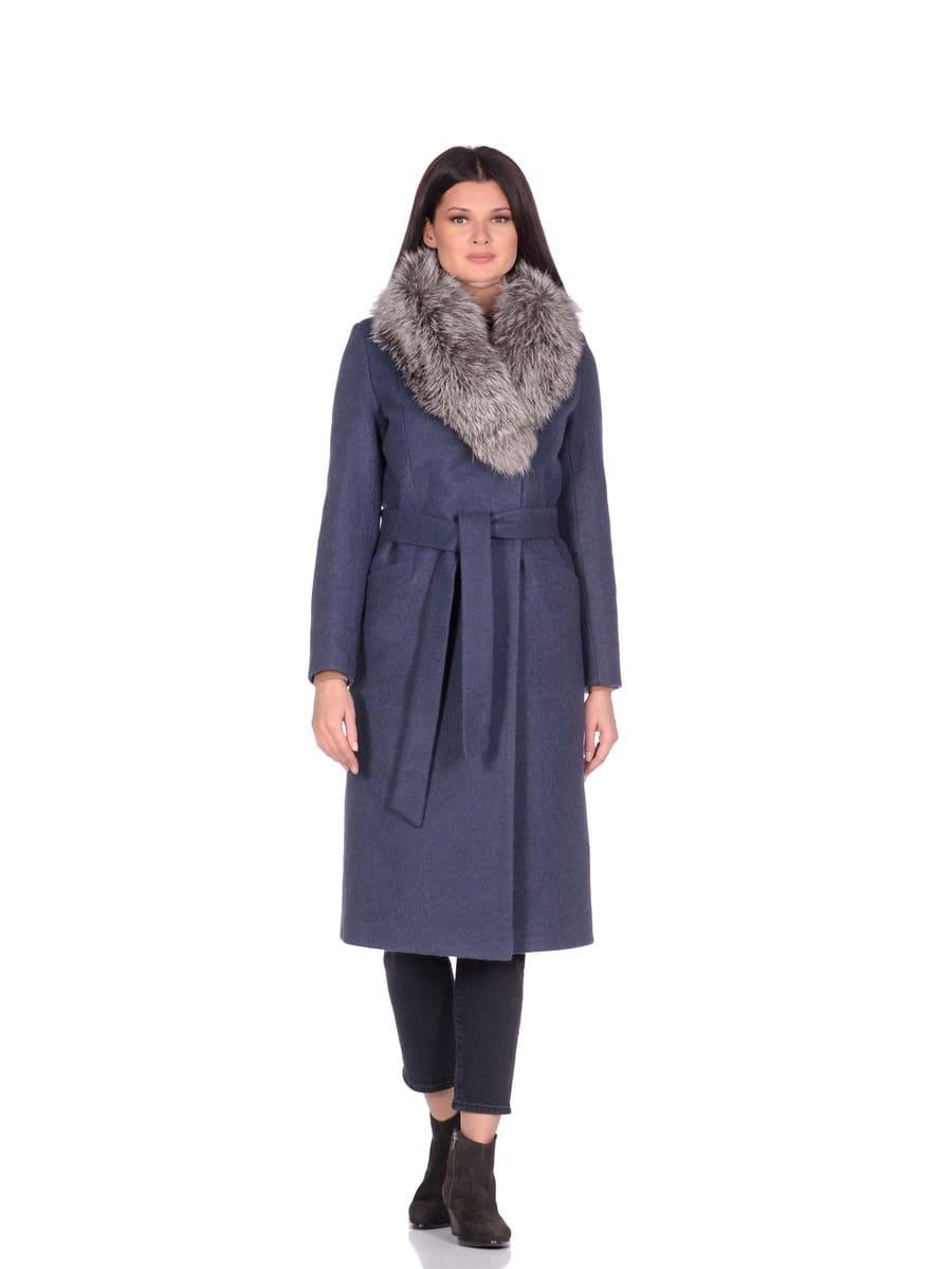 Женское зимнее пальто hr-014a синее фото-1