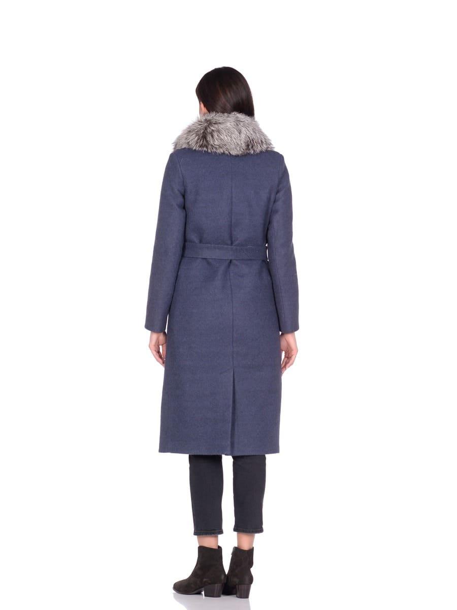 Женское зимнее пальто hr-014a синее фото-3