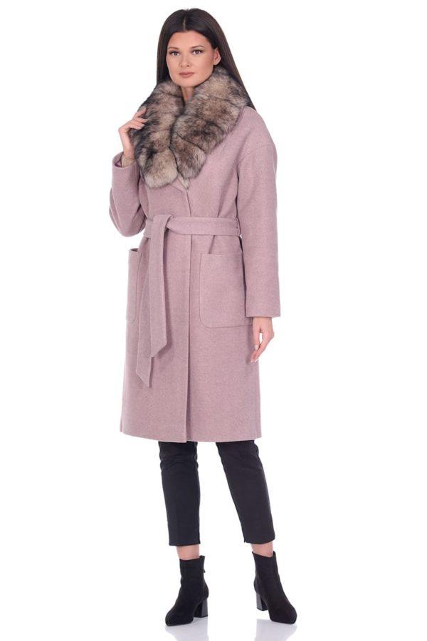 Женское зимнее пальто hr-009a бежевое фото-1