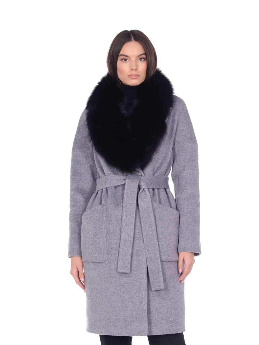 Женское зимнее пальто hr-054 кофейное фото-2