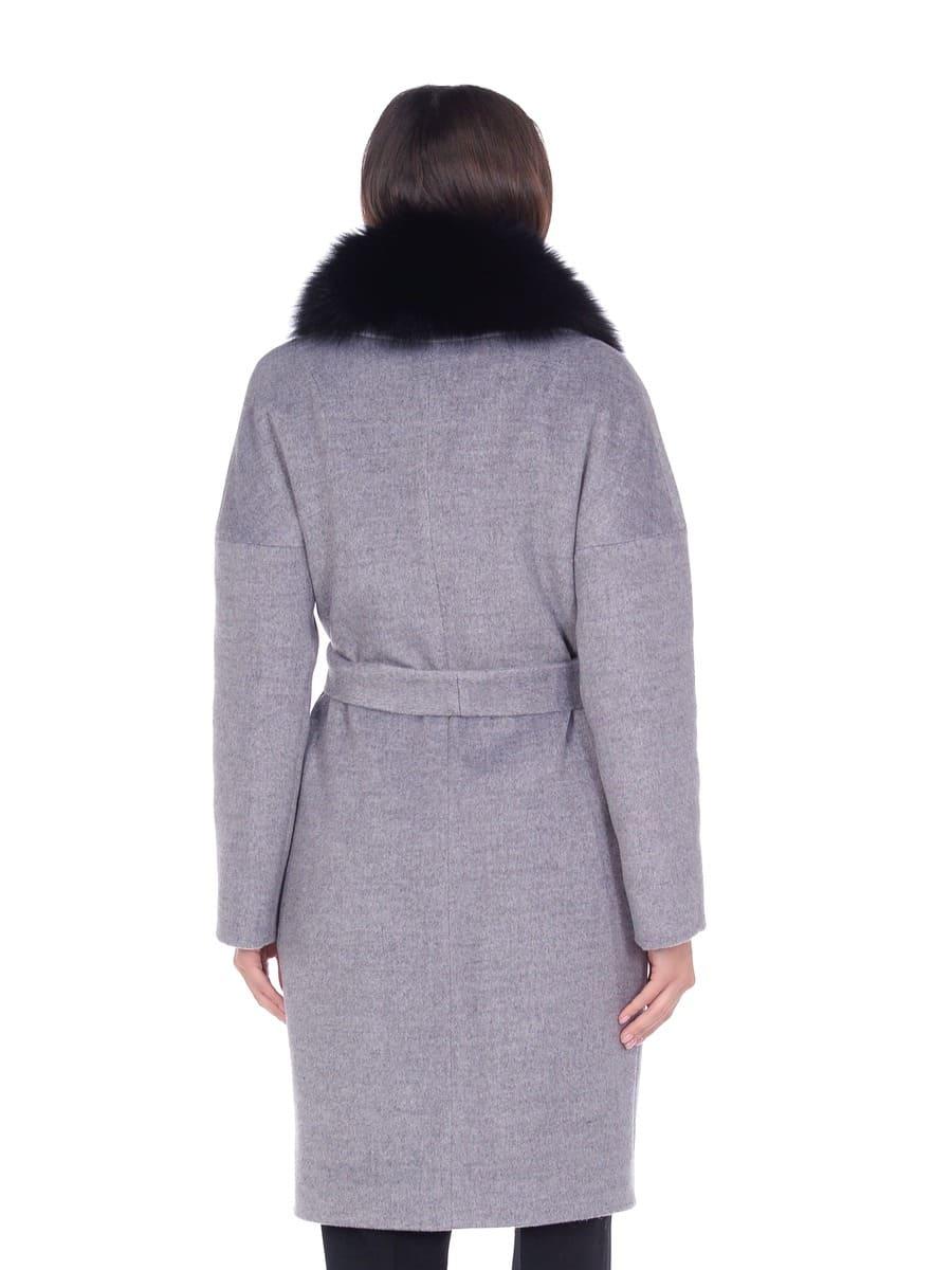 Женское зимнее пальто hr-054 кофейное фото-3