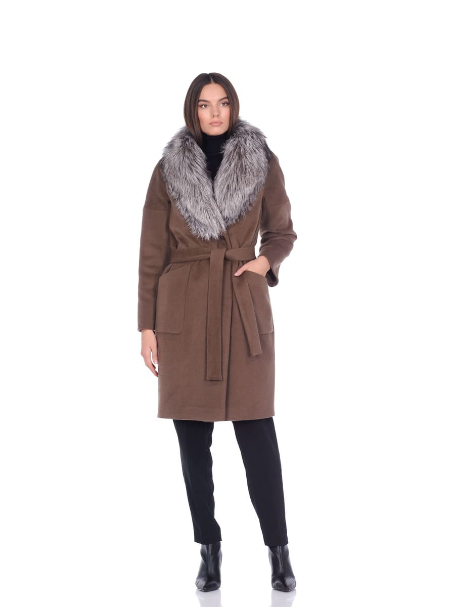 Женское зимнее пальто hr-054 серое фото-1