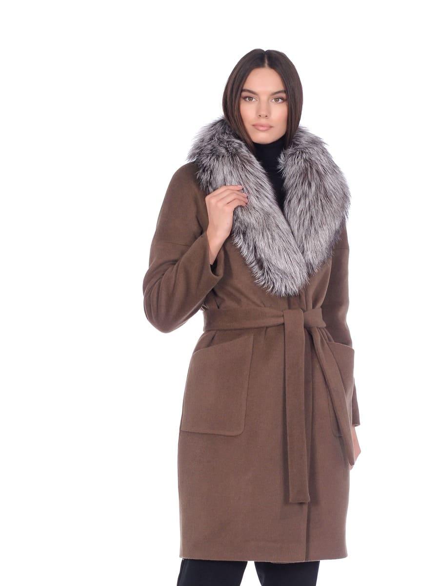 Женское зимнее пальто hr-054 серое фото-2