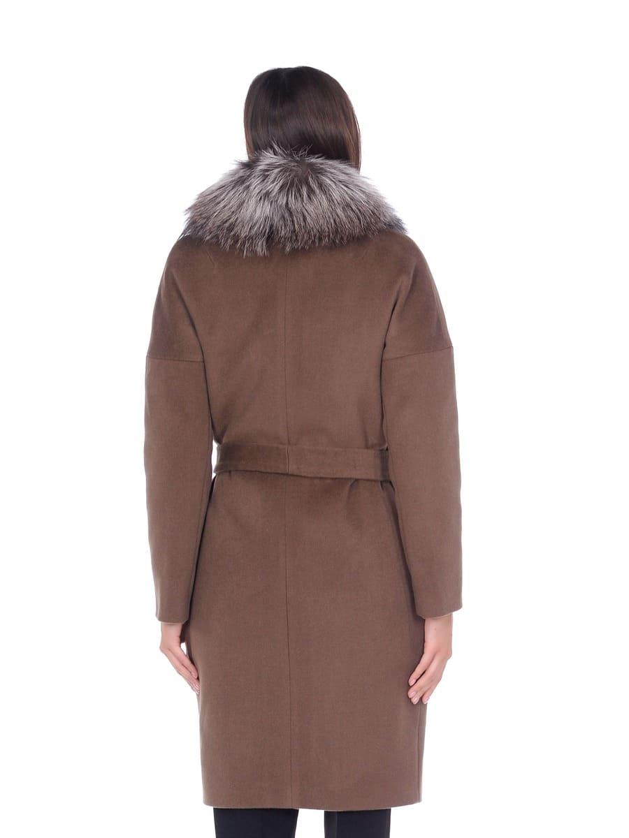 Женское зимнее пальто hr-054 серое фото-3