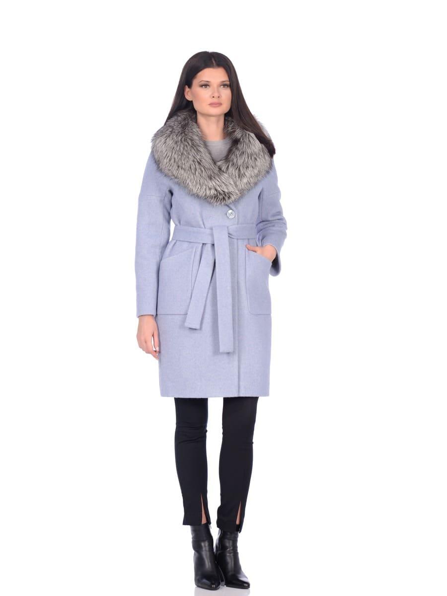 Женское зимнее пальто hr-054 синее фото-1