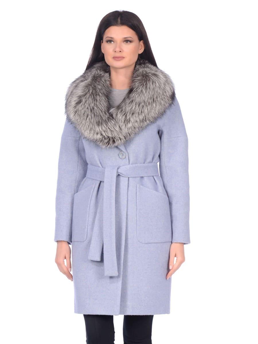 Женское зимнее пальто hr-054 синее фото-2