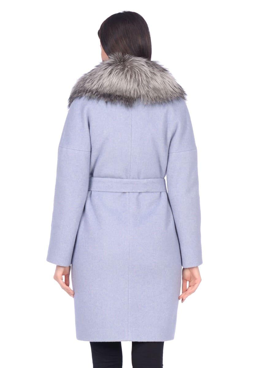 Женское зимнее пальто hr-054 синее фото-3