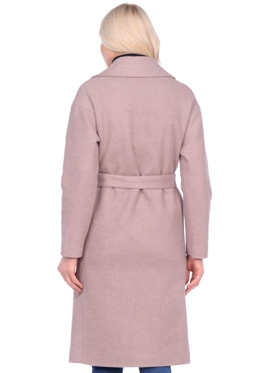 Женское демисезонное пальто hr-002b бежевое фото-3