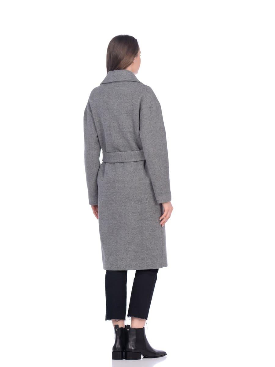 Женское демисезонное пальто hr-002b серое фото-3