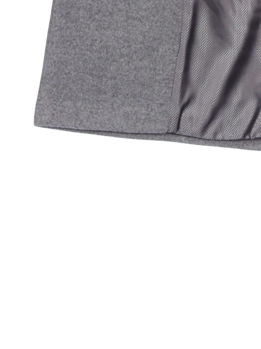 Женское демисезонное пальто hr-002b серое фото-4