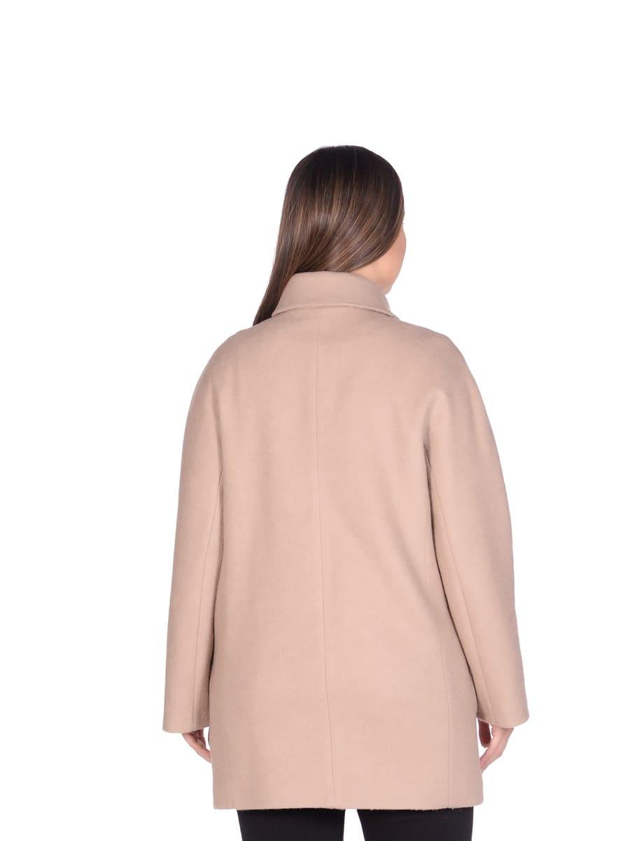 Женское демисезонное пальто hr-048a бежевое фото-3