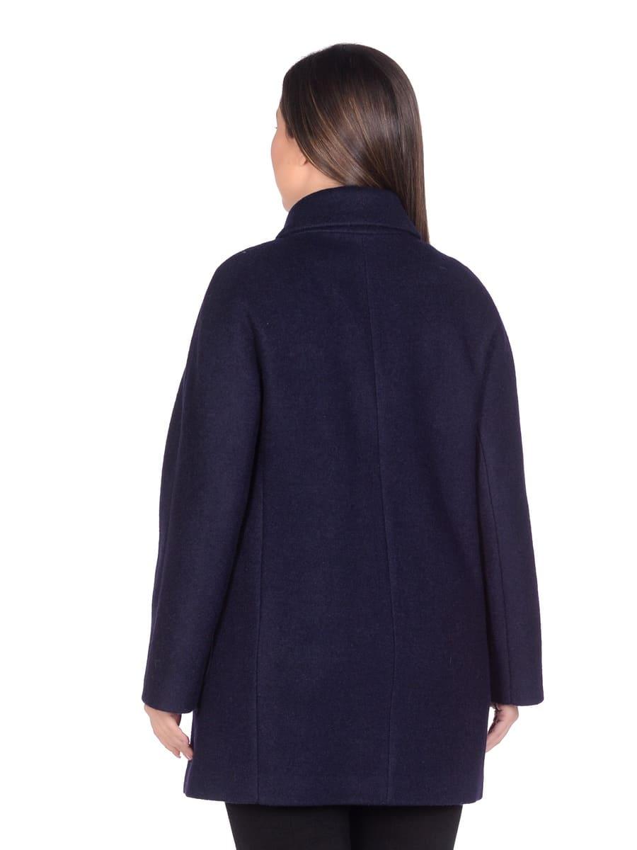 Женское демисезонное пальто hr-048a синее фото-3