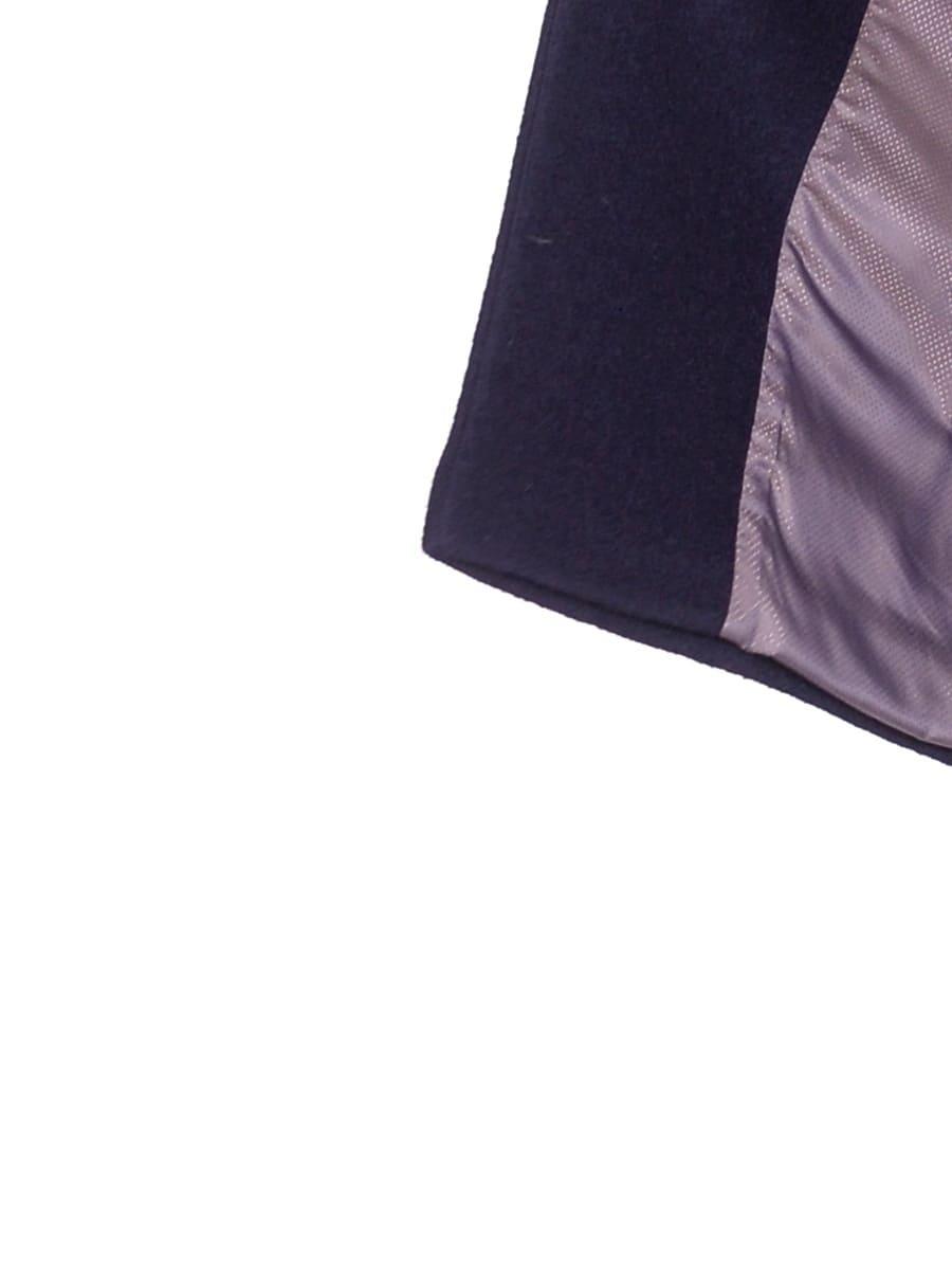 Женское демисезонное пальто hr-048a синее фото-4