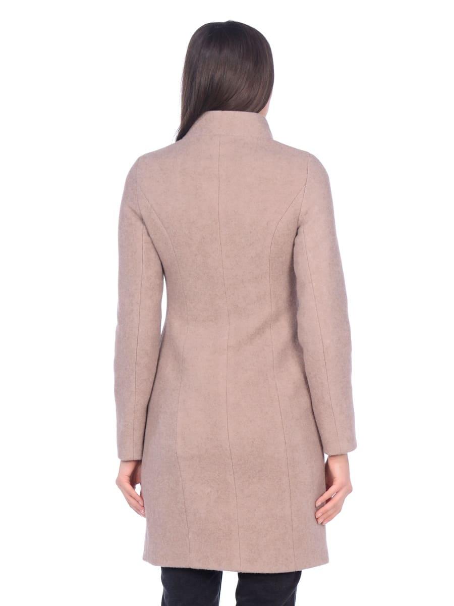Женское демисезонное пальто hr-056 бежевое фото-3