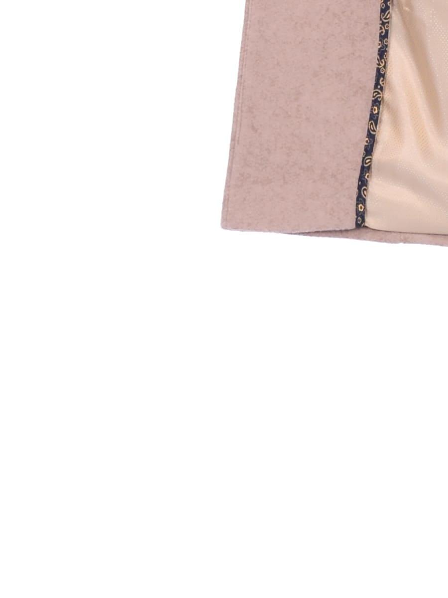 Женское демисезонное пальто hr-056 бежевое фото-4