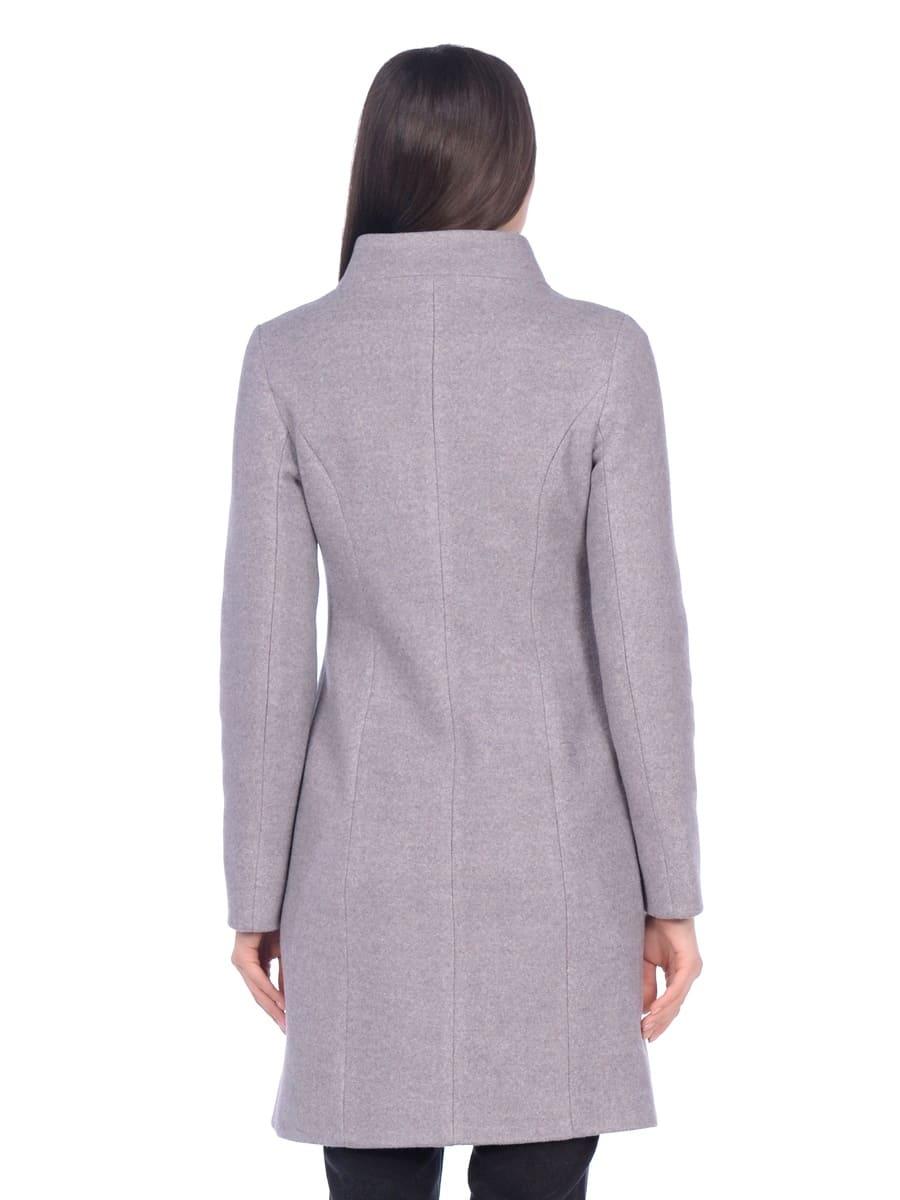 Женское демисезонное пальто hr-056 серое фото-3
