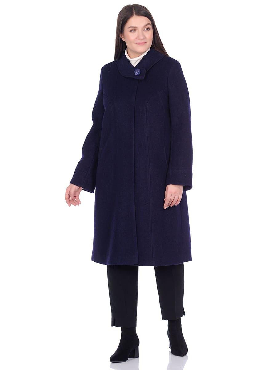 Женское демисезонное пальто hr-008b синего цвета фото-1
