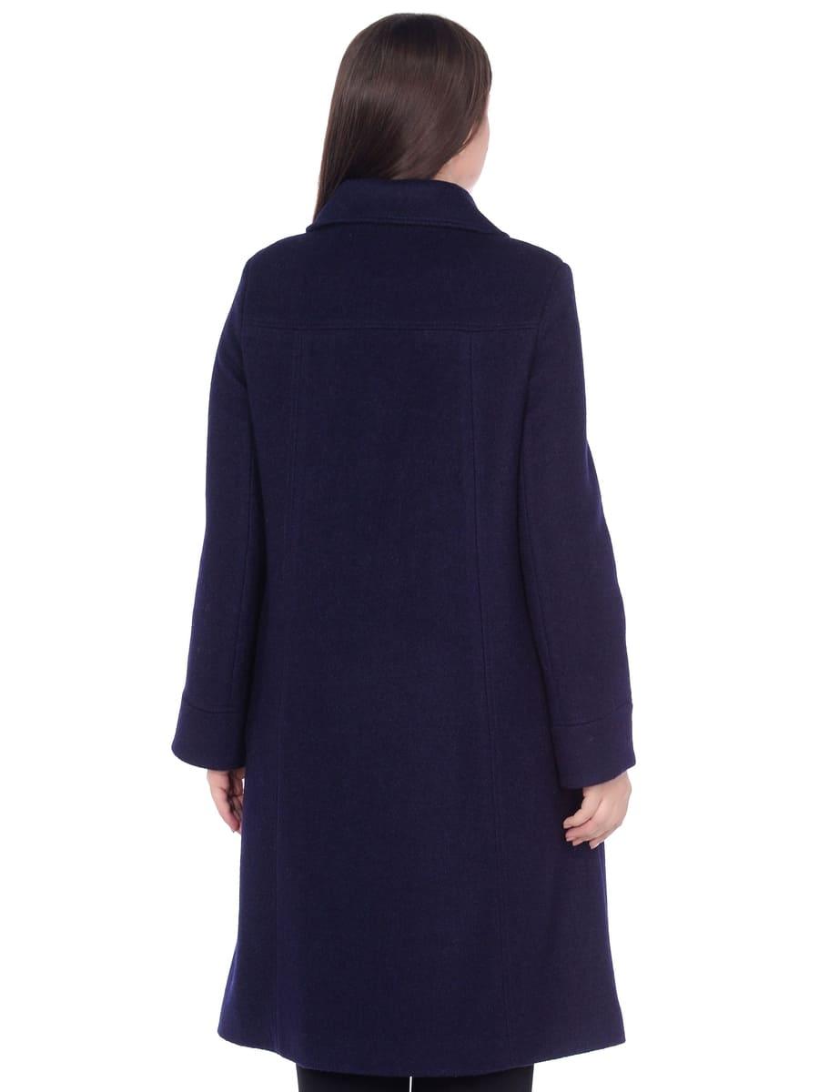 Женское демисезонное пальто hr-008b синего цвета фото-3