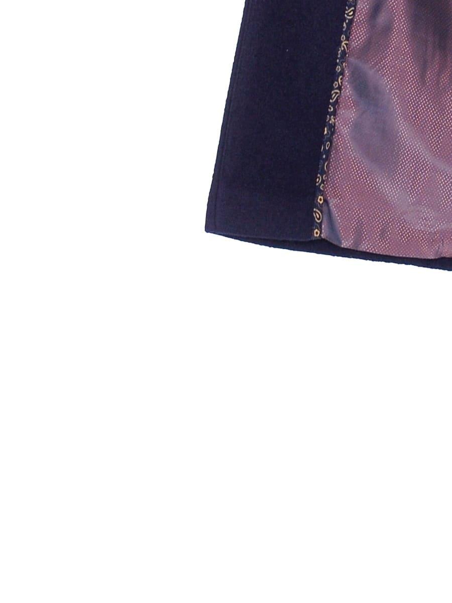 Женское демисезонное пальто hr-008b синего цвета фото-4