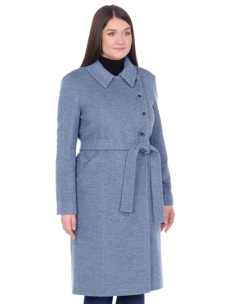 Женское демисезонное пальто hr-057 голубого цвета фото-2