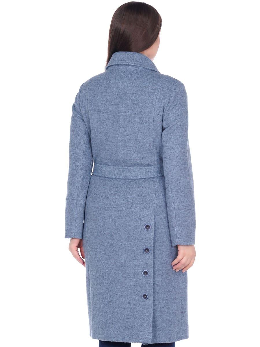 Женское демисезонное пальто hr-057 голубого цвета фото-3