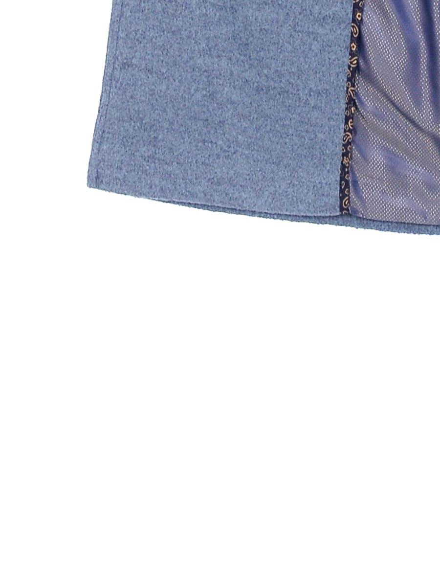 Женское демисезонное пальто hr-057 голубого цвета фото-4