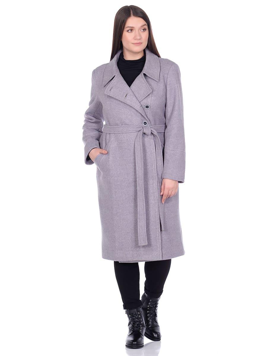 Женское демисезонное пальто hr-057 серого цвета фото-1