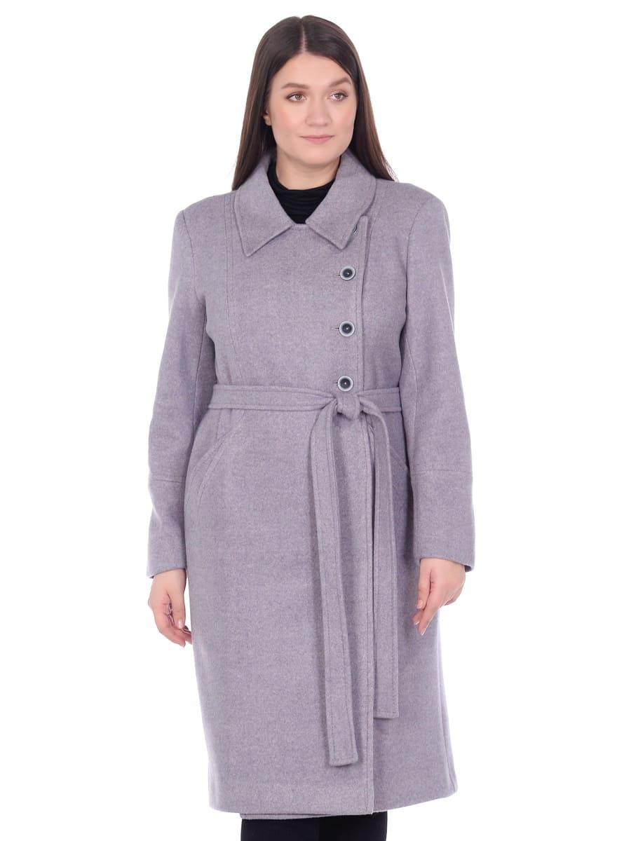 Женское демисезонное пальто hr-057 серого цвета фото-2