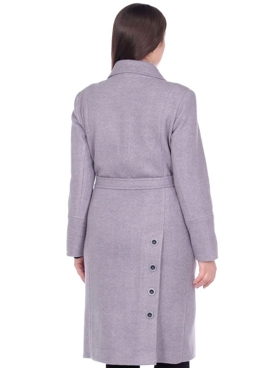 Женское демисезонное пальто hr-057 серого цвета фото-3