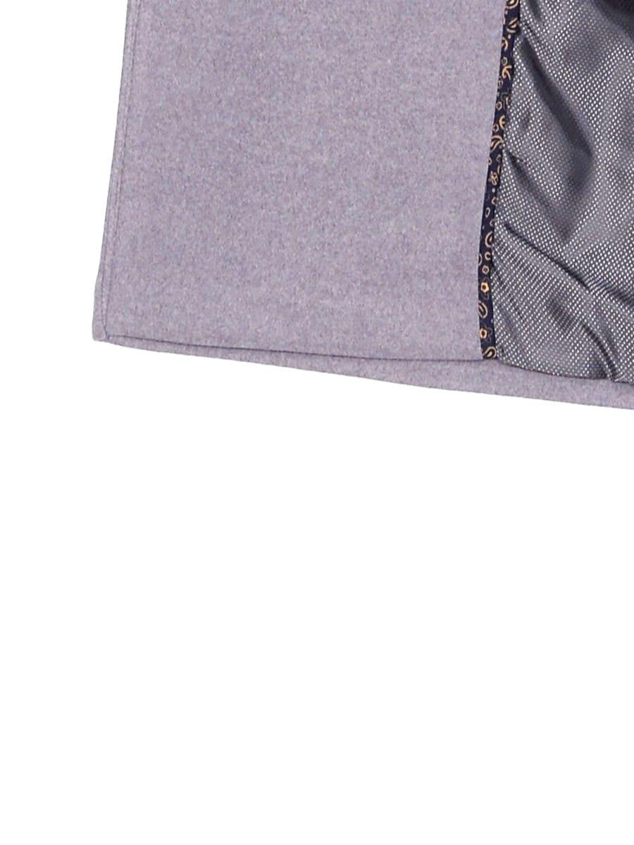 Женское демисезонное пальто hr-057 серого цвета фото-4