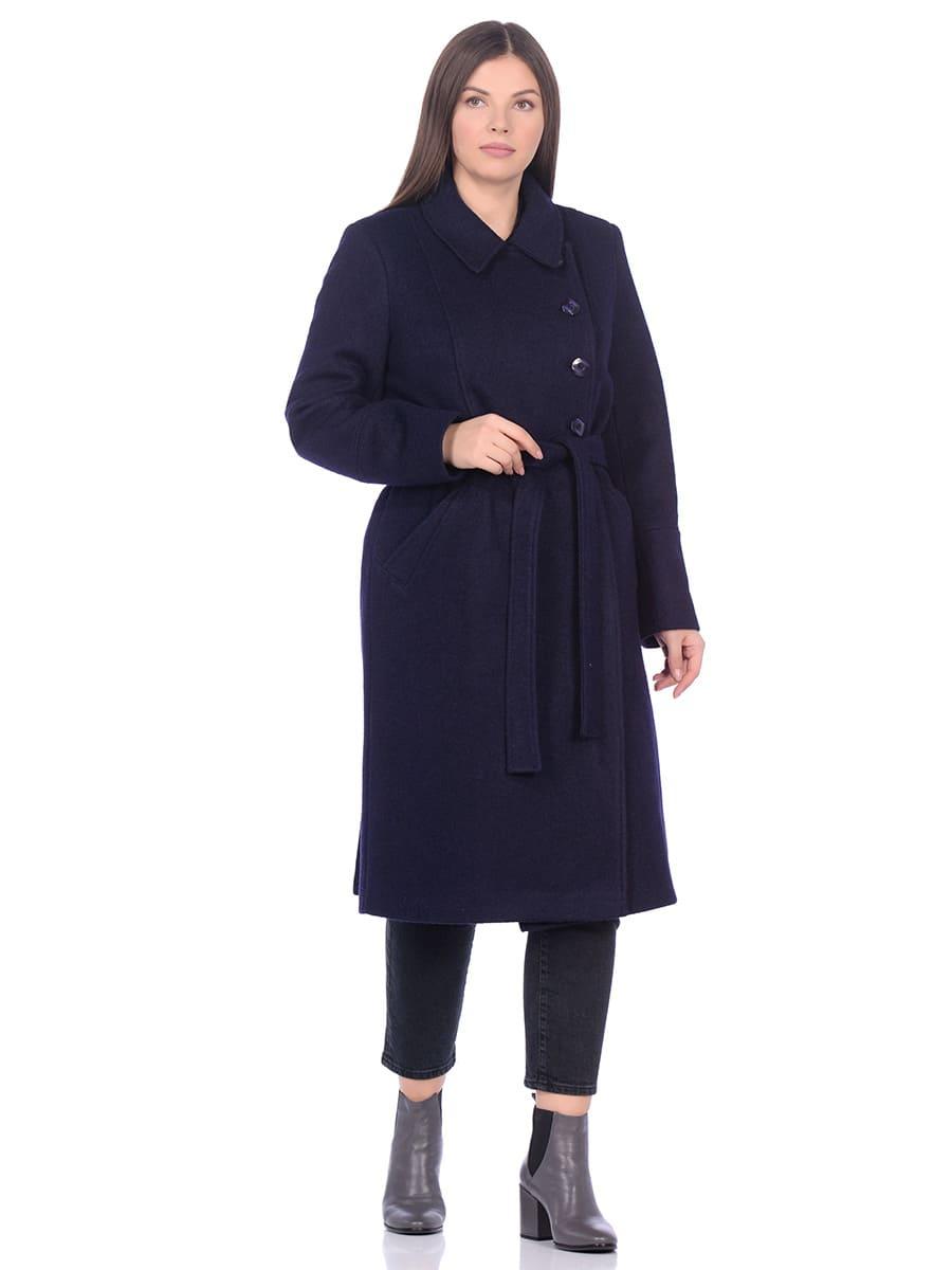 Женское демисезонное пальто hr-057 синего цвета фото-1