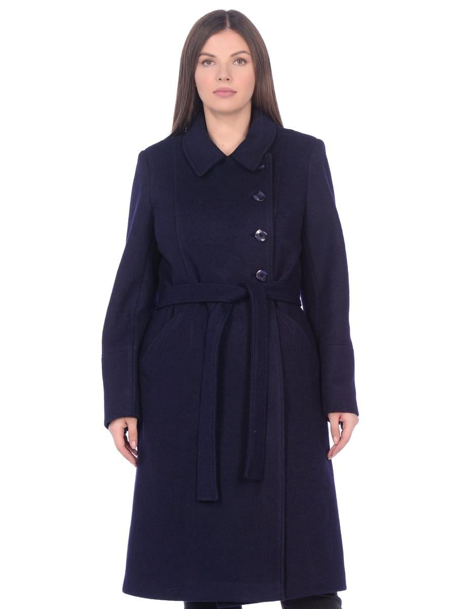 Женское демисезонное пальто hr-057 синего цвета фото-2