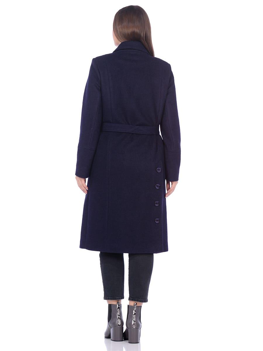 Женское демисезонное пальто hr-057 синего цвета фото-3