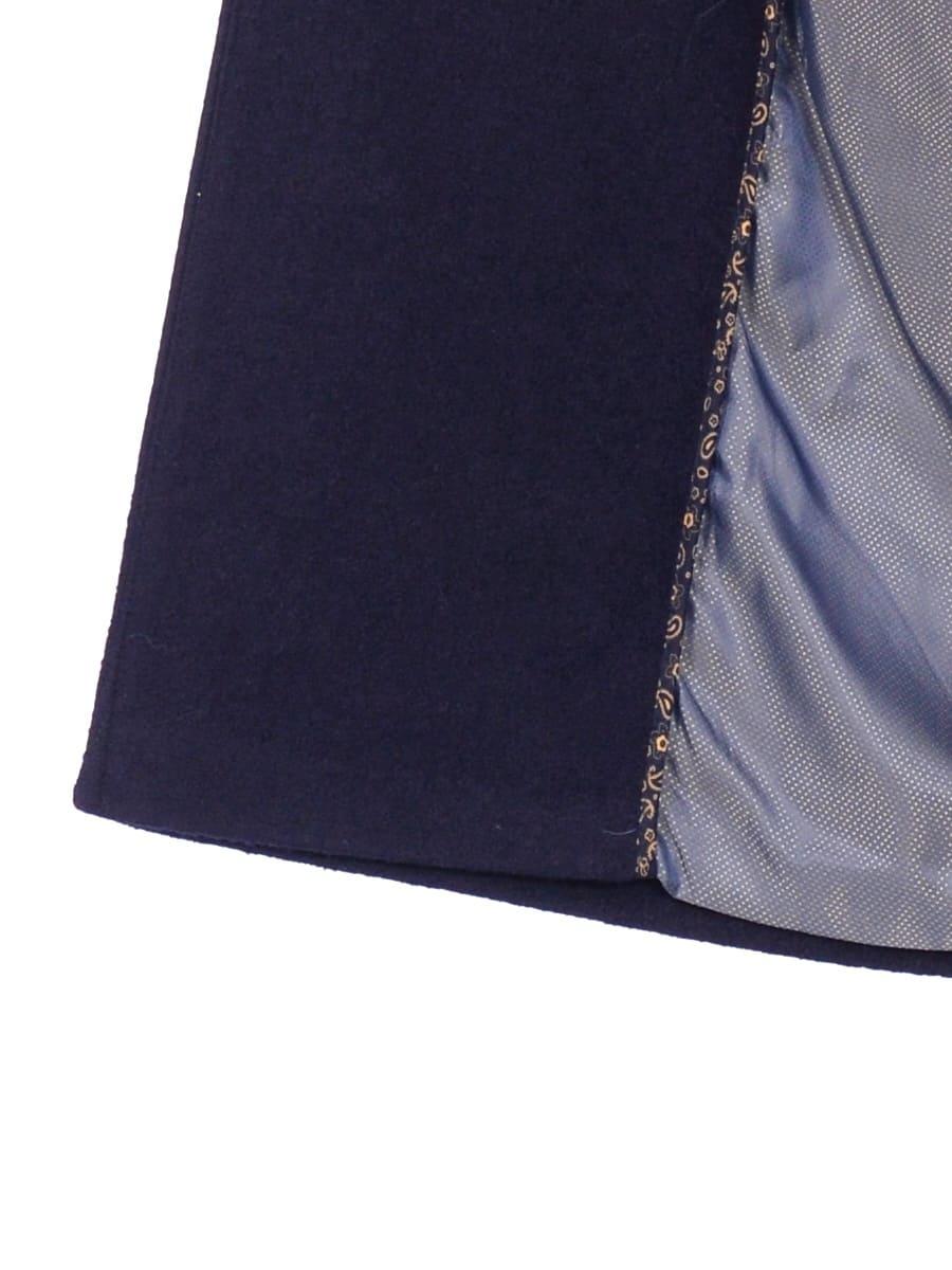 Женское демисезонное пальто hr-057 синего цвета фото-4