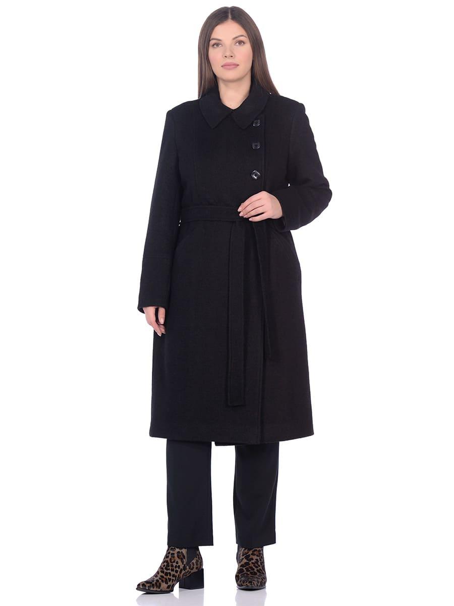Женское демисезонное пальто hr-057 черного цвета фото-1