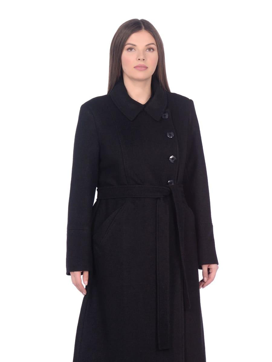 Женское демисезонное пальто hr-057 черного цвета фото-2