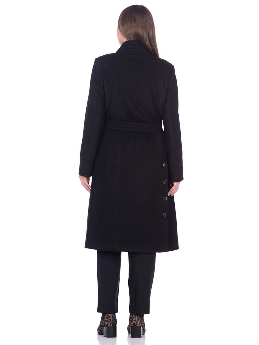 Женское демисезонное пальто hr-057 черного цвета фото-3
