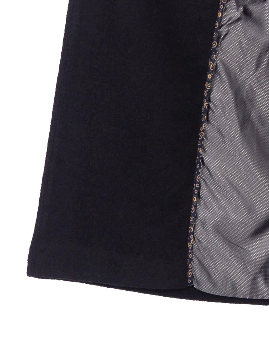 Женское демисезонное пальто hr-057 черного цвета фото-4