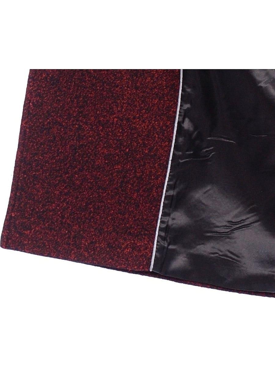 Женское демисезонное пальто hr-057 бордового цвета