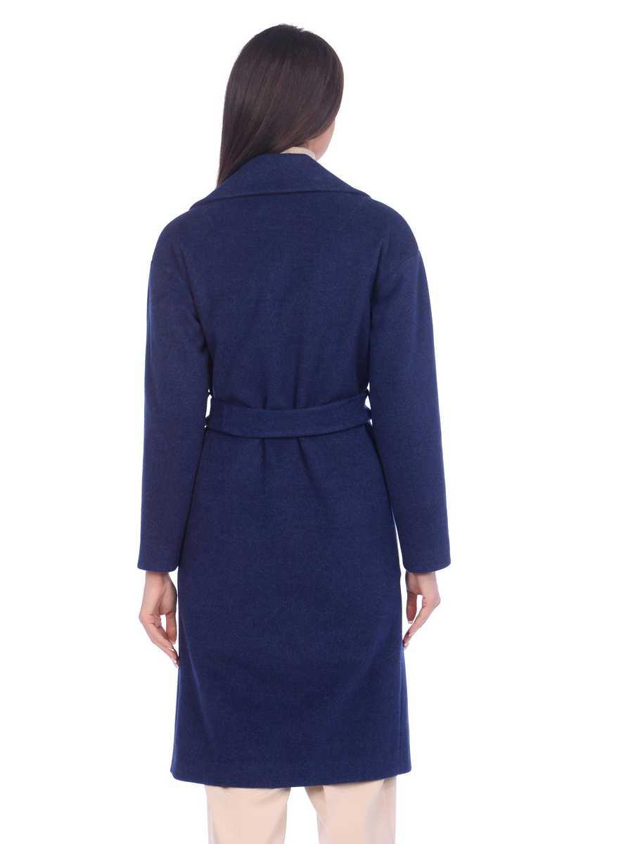 Женское демисезонное пальто hr-002b синего цвета