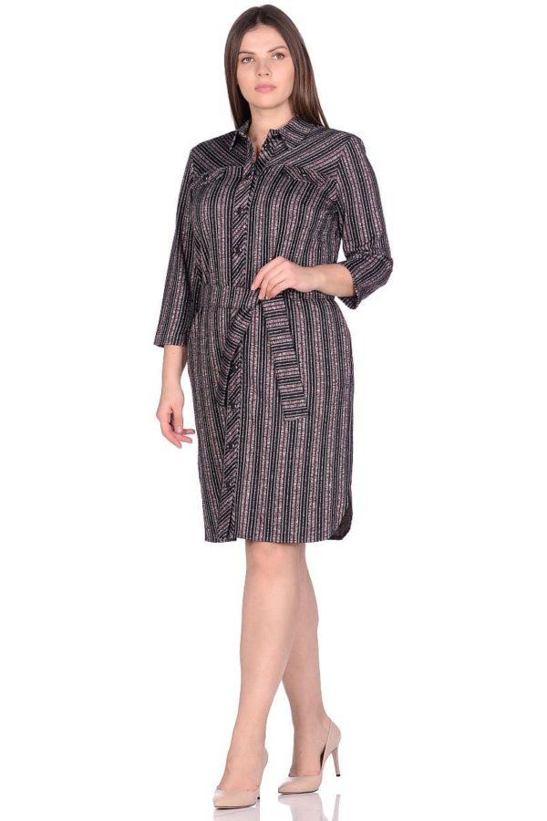 Женское платье LISA 0337 цвет серый черный фото-1