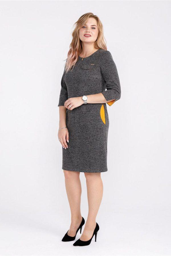 Женское платье LISA HR-1/260 цвет серый золотой фото-1