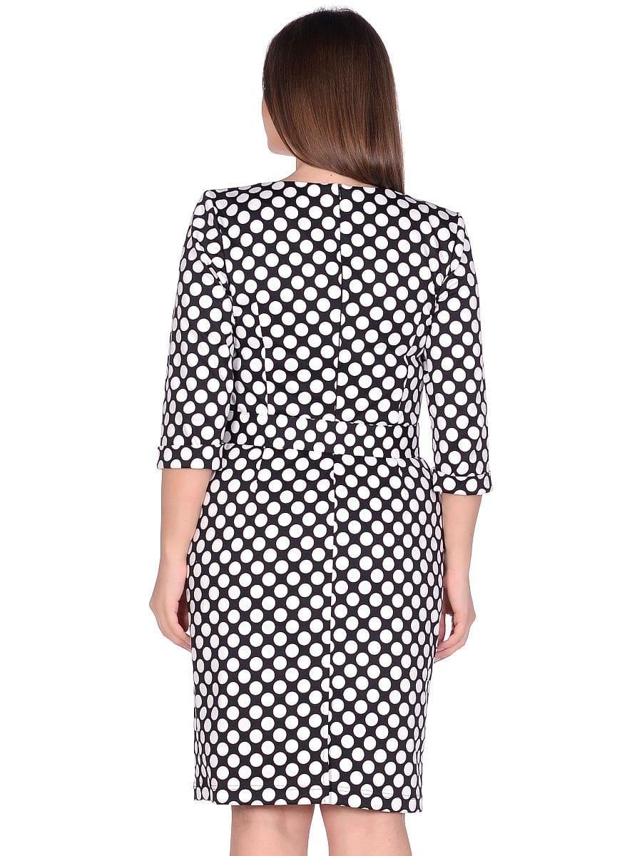 Женское платье LISA HR-1/315 цвет белый черный фото-3