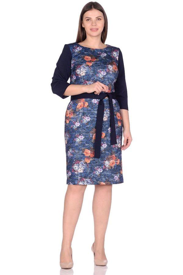 Женское платье LISA HR-1/345 синий фото-1