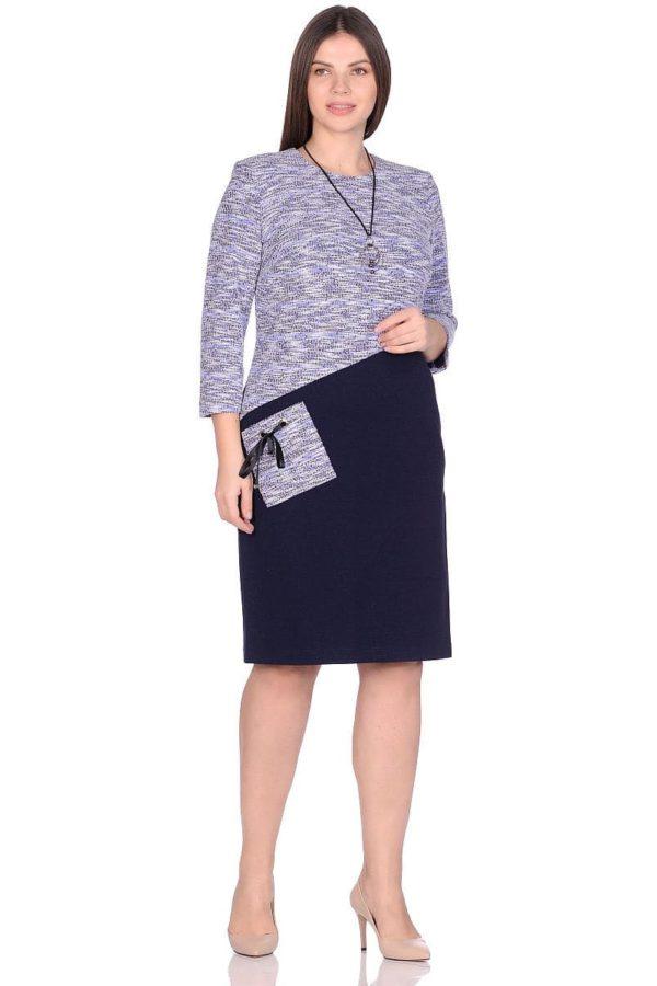 Женское платье LISA HR-1/322 синий фото-1