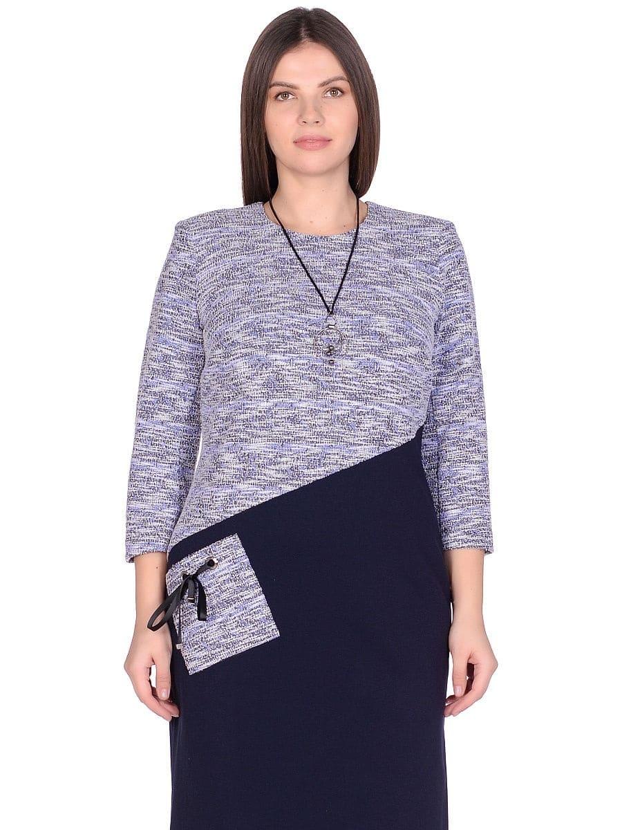 Женское платье LISA HR-1/322 синий фото-2