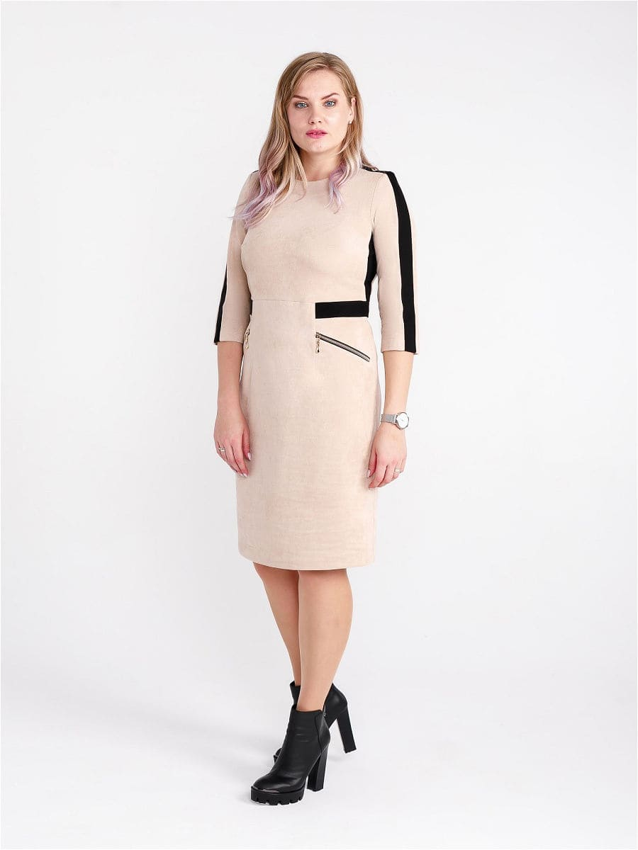 Женское платье LISA HR-1/331 бежевый фото-2