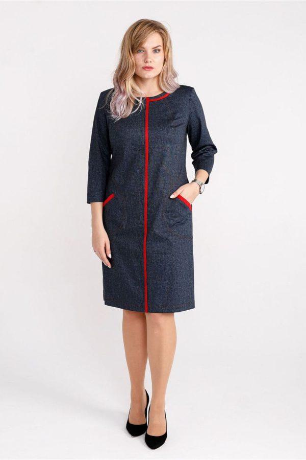 Женское платье LISA HR-1/332 джинс фото-1