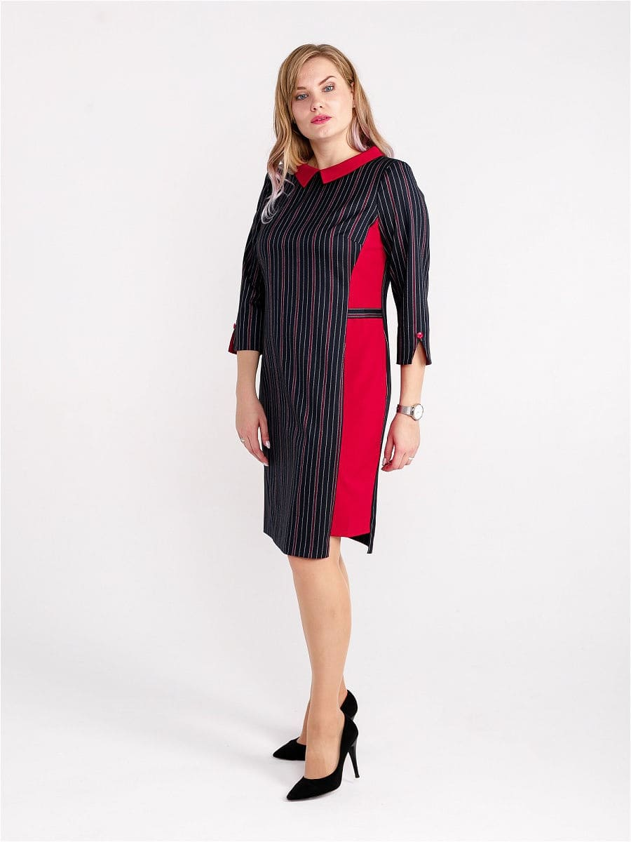 Женское платье LISA HR-1/333 синий-красный фото-1